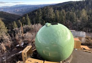 Green radome to match the forest surround