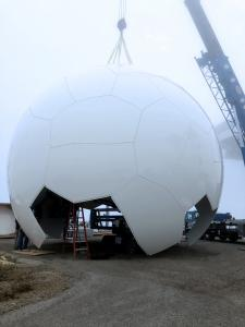 35.5ft Radome Assembly, Top-Down illustration
