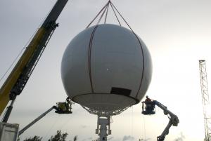 35.5ft Radome Fitting Over Antenna